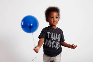Rockstar birthday shirt rock and roll party two rocks one rocks for any birthday organic blend tee for baby toddler youth guitar music