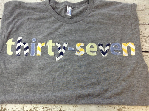 Adult birthday shirt, men's birthday shirt, thirty seven