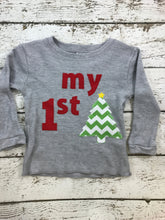 Load image into Gallery viewer, Children's Christmas shirt, my 1st Christmas shirt, first Christmas