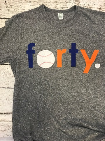 forty shirt, baseball shirt, baseball birthday shirt