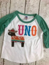 Load image into Gallery viewer, uno shirt, Fiesta party, dos shirt