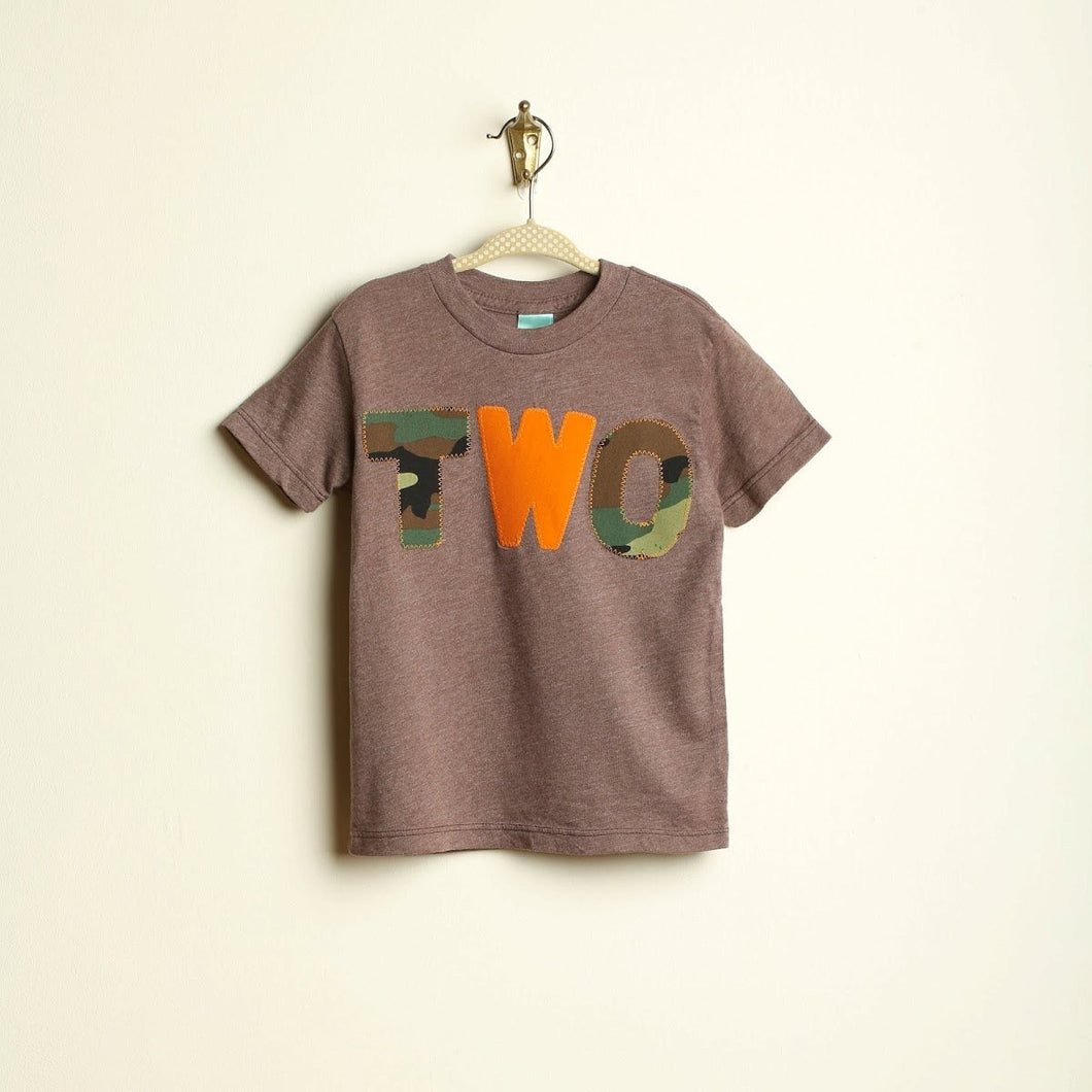 Camouflage and orange Birthday Shirt Organic Blend perfect for boys tshirt camo army