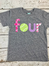 Load image into Gallery viewer, Tennis shirt, tennis lover, girls birthday shirt
