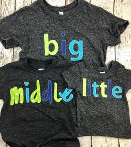 little shirt, birth announcement, sibling shirts