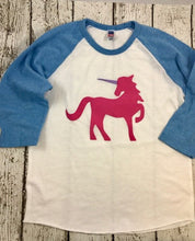 Load image into Gallery viewer, Unicorn shirt for girls, unicorn shirt, unicorn outfit