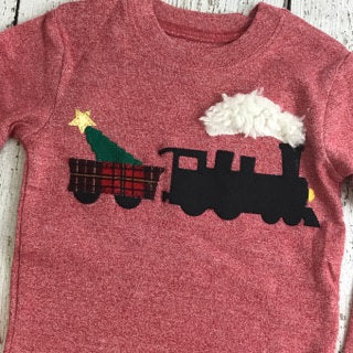Train pajama, Christmas train, polar