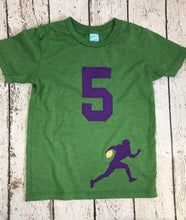 Load image into Gallery viewer, Football shirt, boys football shirt, sports themed birthday