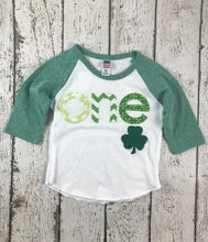 Load image into Gallery viewer, one shirt, St Patty's baby, birthday shirt