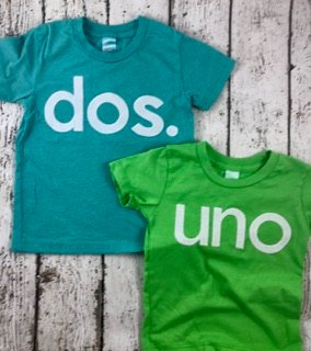 spanish birthday shirt, uno shirt, dos shirt