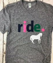 Load image into Gallery viewer, Horse tee, horseback riding, riding shirt