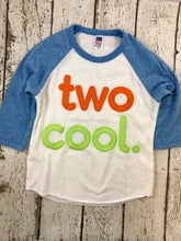 Load image into Gallery viewer, Second birthday shirt, TWO cool shirt, cool kid's shirt