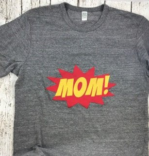 Super mom, mom shirt, superhero mom