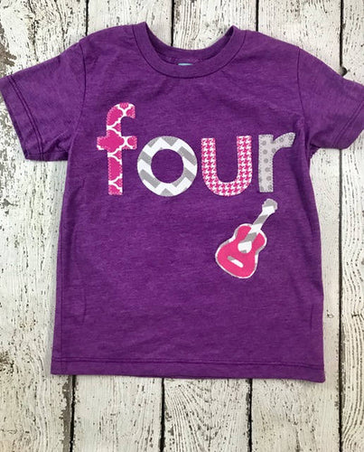 Girl's birthday shirt, rocker party, Rockstar birthday