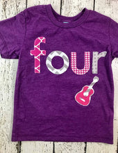 Load image into Gallery viewer, Girl's birthday shirt, rocker party, Rockstar birthday