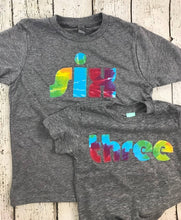 Load image into Gallery viewer, Tie Dye party, tie dye birthday shirt, tie dye shirt