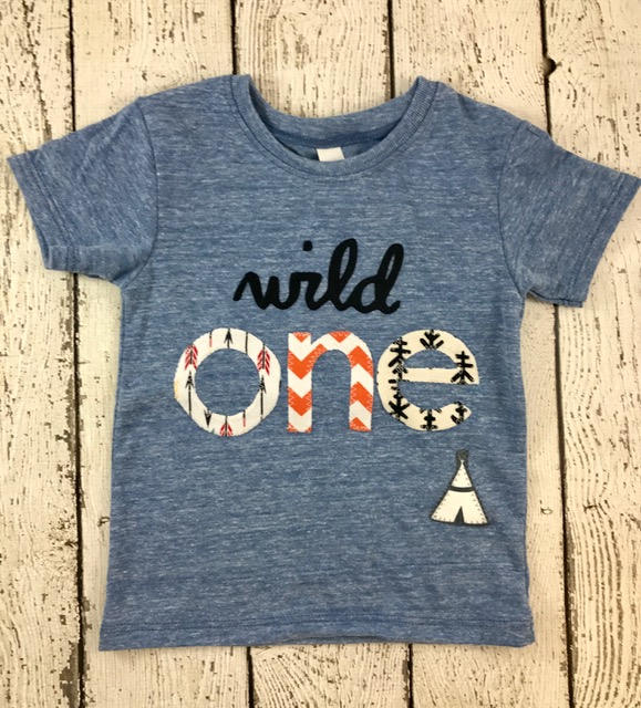 wild one, teepee, Childrens birthday shirt
