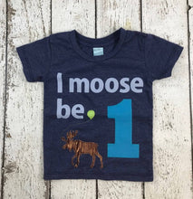 Load image into Gallery viewer, moose shirt, moose party, woodland birthday