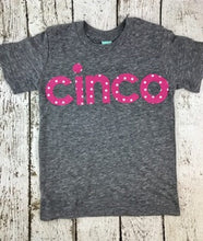 Load image into Gallery viewer, spanish birthday shirt, cinco shirt, five shirt