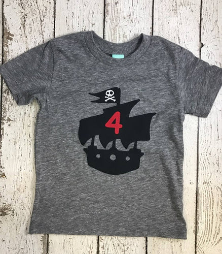 Pirate Birthday Shirt, pirate ship, birthday shirt