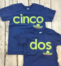 Load image into Gallery viewer, cinco shirt, Spanish birthday shirt, Fiesta party