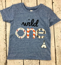 Load image into Gallery viewer, wild one, teepee, Childrens birthday shirt