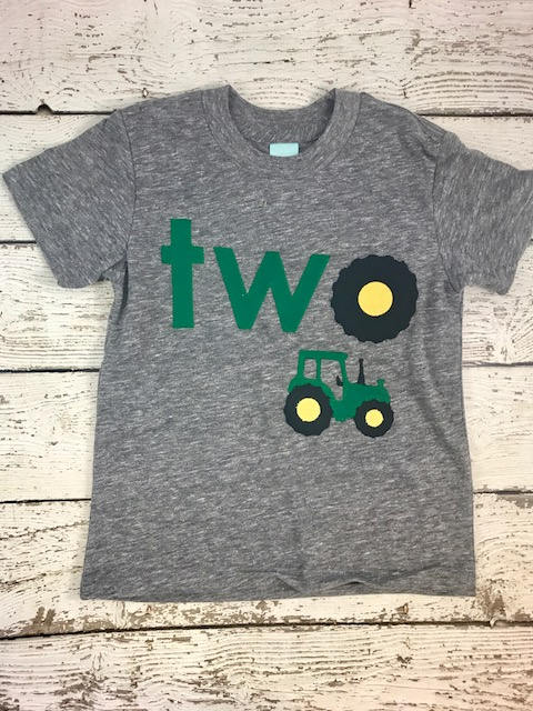 Tractor shirt, tractor birthday shirt, tractor party
