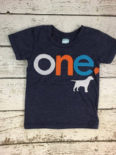 Load image into Gallery viewer, Dog Birthday shirt Customize colors white orange turquoise Organic blend tshirt Labrador Retreiver
