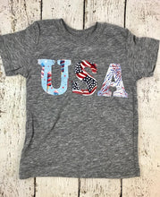 Load image into Gallery viewer, USA shirt, Patriotic shirt, 4th of July outfit