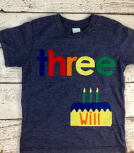 Load image into Gallery viewer, Children's birthday shirt, boy's birthday shirt, birthday cake shirt