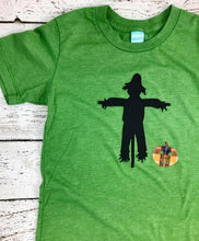 Load image into Gallery viewer, Boy's Halloween Shirt, scarecrow shirt, scarecrow costume