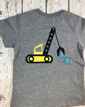 Load image into Gallery viewer, Construction birthday, crane, crane shirt