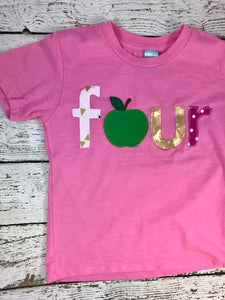Apple Picking outfit, apple shirt, apple birthday theme