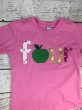 Load image into Gallery viewer, Apple Picking outfit, apple shirt, apple birthday theme