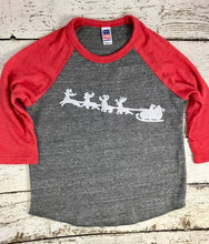 Load image into Gallery viewer, Santa's sleigh shirt, Santa shirt, holiday shirt
