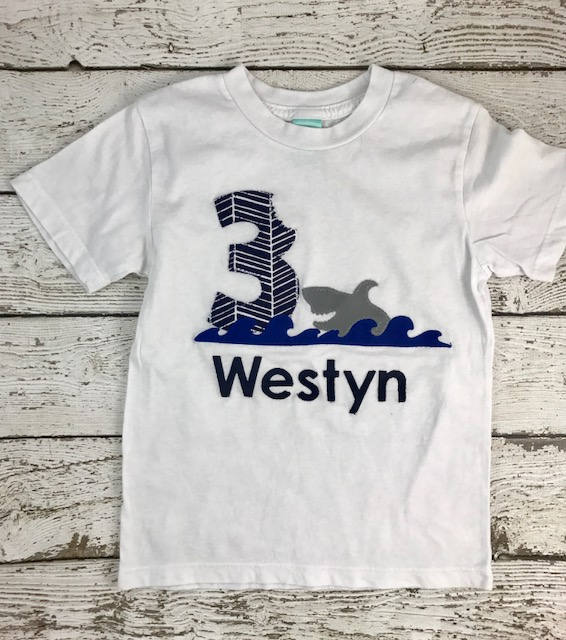 Shark Birthday shirt, boy's birthday shirt, shark party