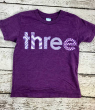 Load image into Gallery viewer, Girl's birthday shirt, purple party, purple decor