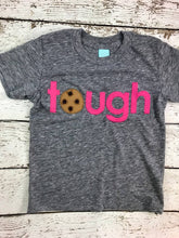 Load image into Gallery viewer, tough cookie shirt Chocolate chip Cookie Birthday Tee Organic Shirt pink chocolate chip cookie shirt cookie party children's birthday shirt