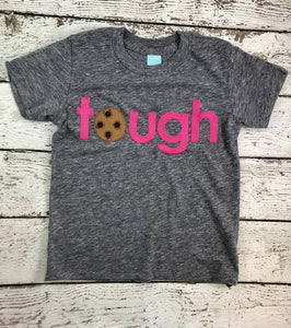 tough cookie shirt Chocolate chip Cookie Birthday Tee Organic Shirt pink chocolate chip cookie shirt cookie party children's birthday shirt