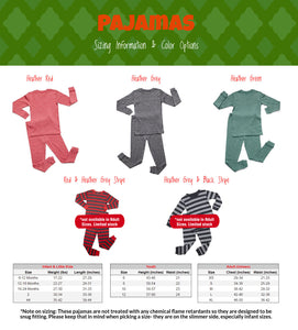 Hipster Santa Pajamas, Christmas Pajamas, Holiday Pajamas