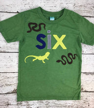 Load image into Gallery viewer, Reptile party, reptile birthday shirt, snakes