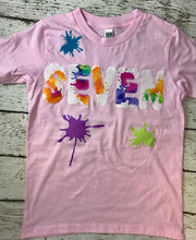 Load image into Gallery viewer, Paint party, splatter paint shirt, paint party invitation
