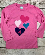 Load image into Gallery viewer, heart shirt, girly birthday shirt, heart tee