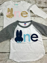 Load image into Gallery viewer, Boy's Bunny shirt, bunny birthday, bunny shirt