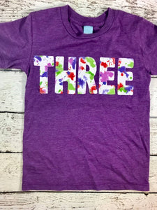 Girls birthday shirt, Paint party, splatter paint shirt