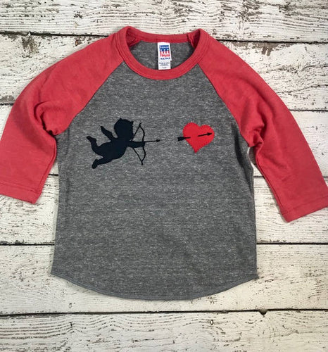 On sale ready 2 ship size 2 Childrens Valentines Day shirt, little cupid, cupid shirt