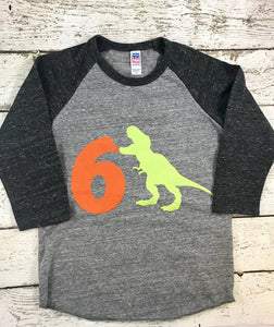 Dinosaur shirt, dinosaur birthday, dinosaur party