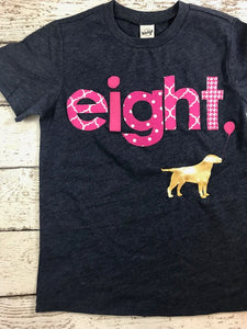 Dog Birthday shirt, pink and gold puppy party, custom birthday shirt