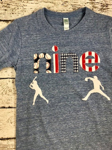 Baseball birthday shirt, baseball shirt, baseball party