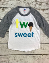 Load image into Gallery viewer, Ice cream party, two sweet shirt, 2 sweet