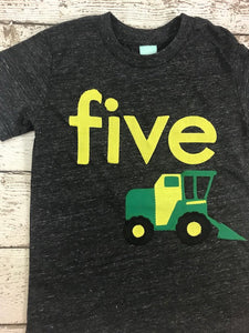 Backhoe tractor shirt, tractor birthday shirt, tractor party